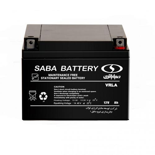 باتری یو پی اس سیلد لید اسید UPS sealed lead acid battery 12V-28Ah صبا باتری